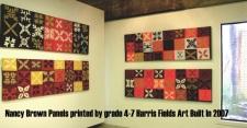 Harris Fields State School Art built in, Nancy Brown artist