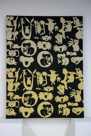 koala arts textile panel Nancy Brown