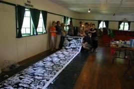 Upatree Puppetry community textiles, Nancy Brown, artist