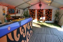 Woodford Fold festival decor,