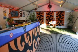 Woodford Fold festival decor,
