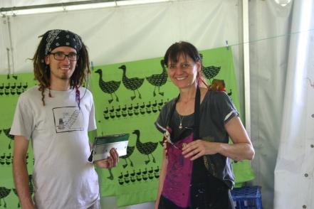 Duck prints, Woodford Folk Festival