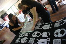Mt Nebo community created design workshop, Nancy Brown artist
