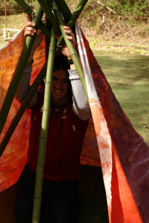 putting teepee up