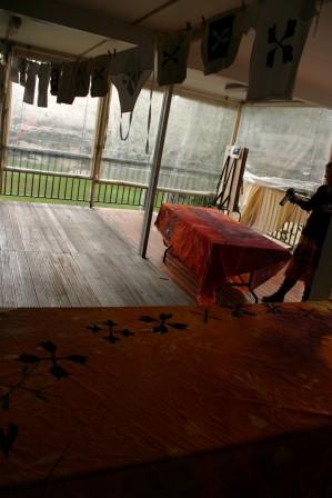 drying teepee