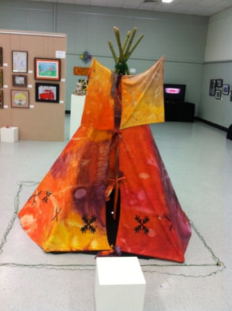 teepee Pine Rivers Regional Youth Arts exhibition