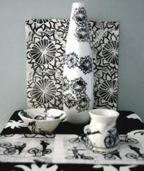 screenprinted ceramics Nancy Brown