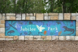Jubilee Park mural designed by Nancy Brown and Forest Lake SHS students