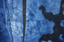 indigo resist print, Nancy Brown artist