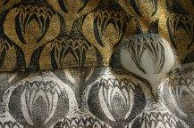 lotus block print, Nancy Brown artist