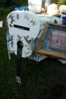 screenprinting zebra guitar