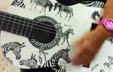 zebra guitar