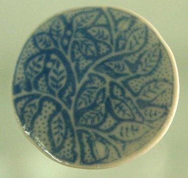 blue espalier brooch