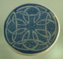 celtic blue brooch