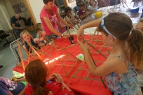 Quilpie lantern making