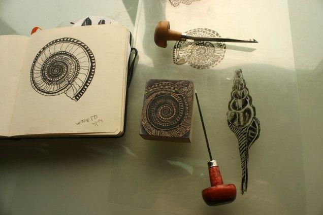 wood engraving Impress