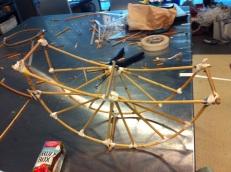making moon lantern