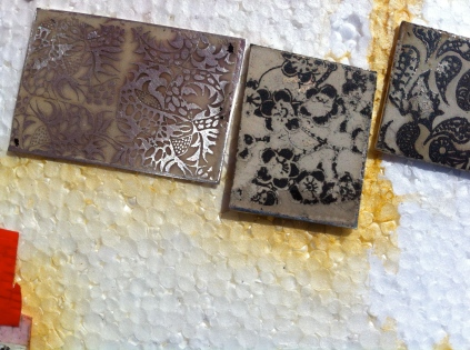 etched silver designs