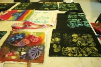 Logan Gallery children's paisley design, Nancy Brown artist
