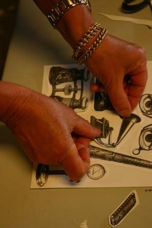 clermont preparing artwork