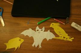 flying fox, cockatoo, fish stencils Mayfield