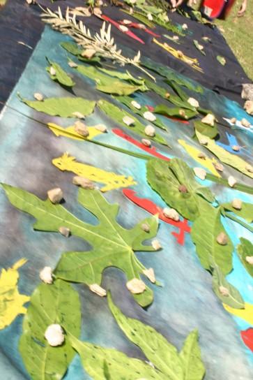 arranging landscape textile, Mayfield