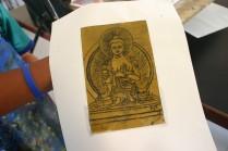 buddha etching