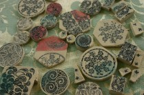 cut porcelain pieces for jewellery
