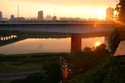 sunset, treasure Hill Taipei