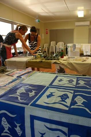 Screenprinting, Flying Art workshop, St George