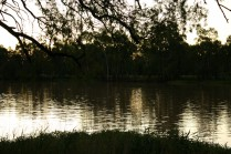 Balonne river, St George dusk
