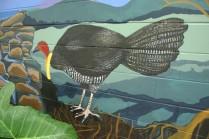 scrub turkey on mural