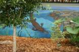 platypus in garden mural