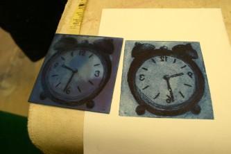 clock drypoint