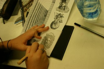 scribing drypoint