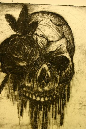 drypoint skull