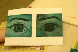 eyes drypoint