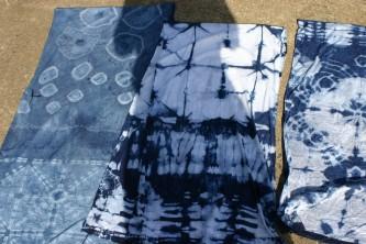 indigo dyed scarves