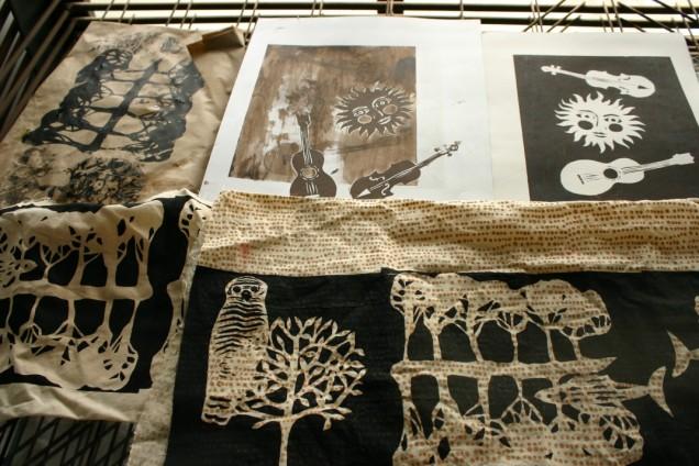 set of stencil prints, Nancy Brown