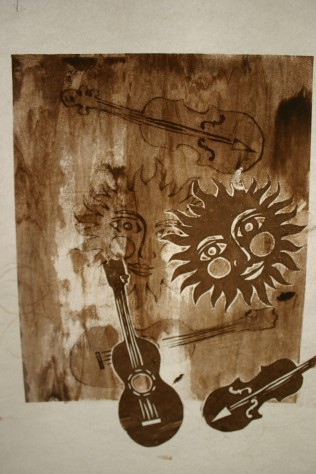 Sun Music print, Nancy Brown