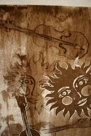 sun song stencil, Nancy Brown