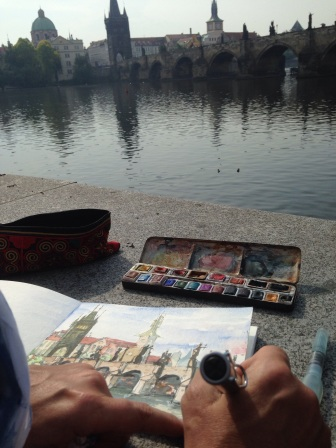 Alison sketching