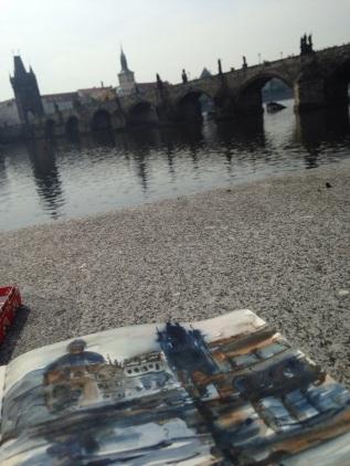 sketching Vitava river