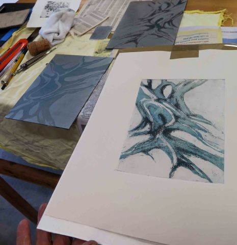 Diana's multi plate etching