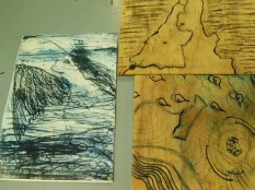 lithography blocks and print