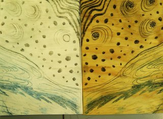 wood lithography, Weipa