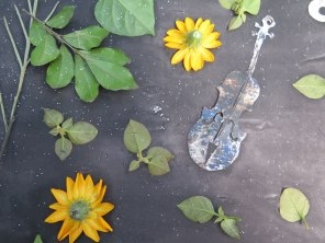 violin silk sunprint