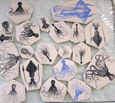 squid porcelain collection