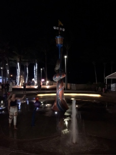 Yeppoon water sculptures, eveing