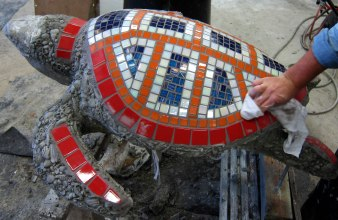 Yeppoon mosaic turtle